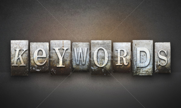 Keywords Letterpress Stock photo © enterlinedesign