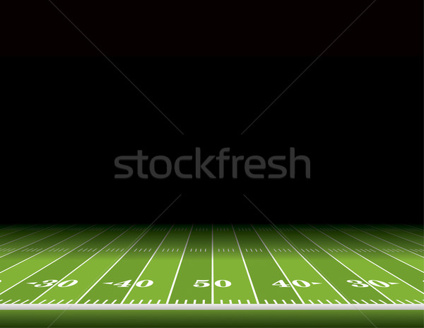 Terrain de football illustration vue secondaire chambre Photo stock © enterlinedesign