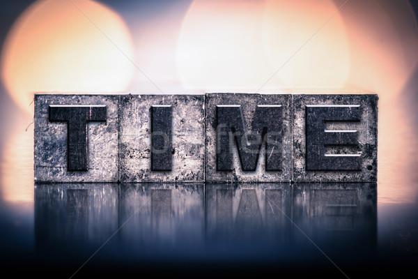 Time Concept Vintage Letterpress Type Stock photo © enterlinedesign