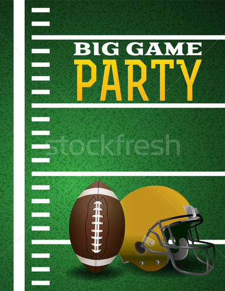 American Football Big Game Party Invitation Stock photo © enterlinedesign