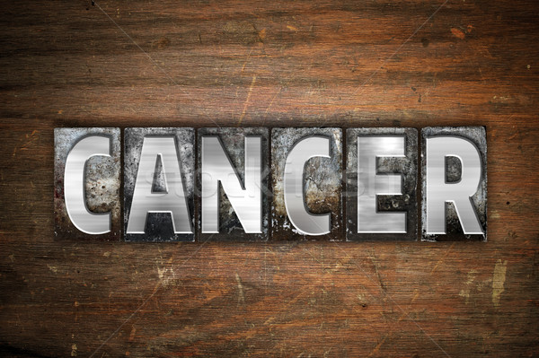 Cancer Concept Metal Letterpress Type Stock photo © enterlinedesign
