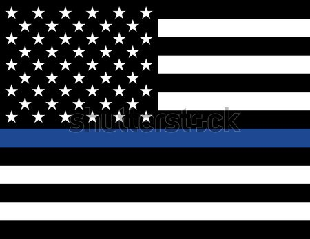 Law Enforcement Support Flag Stock photo © enterlinedesign
