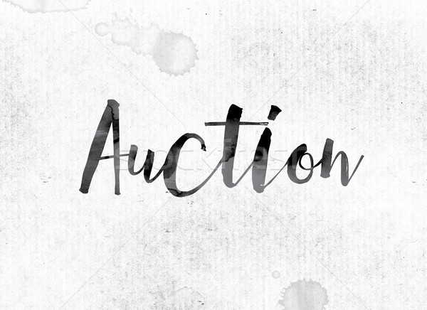 Auction Concept Painted in Ink Stock photo © enterlinedesign