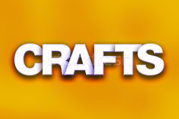 Crafts Concept Colorful Word Art Stock photo © enterlinedesign