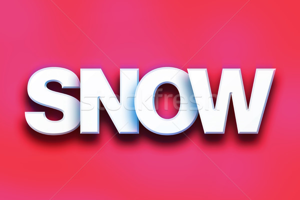 Snow Concept Colorful Word Art Stock photo © enterlinedesign