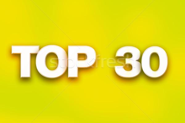 Superior 30 colorido palabra arte escrito Foto stock © enterlinedesign