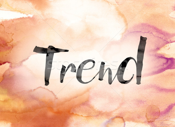 Trend Colorful Watercolor and Ink Word Art Stock photo © enterlinedesign
