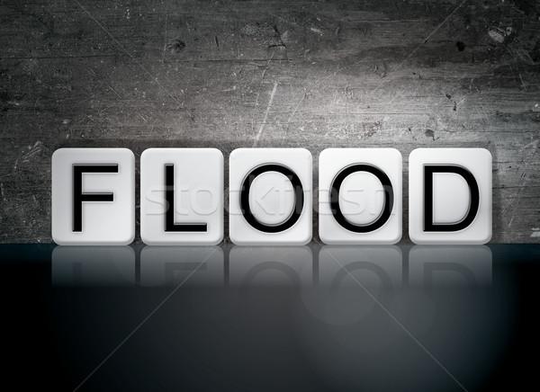 Flood Concept Tiled Word Stock photo © enterlinedesign