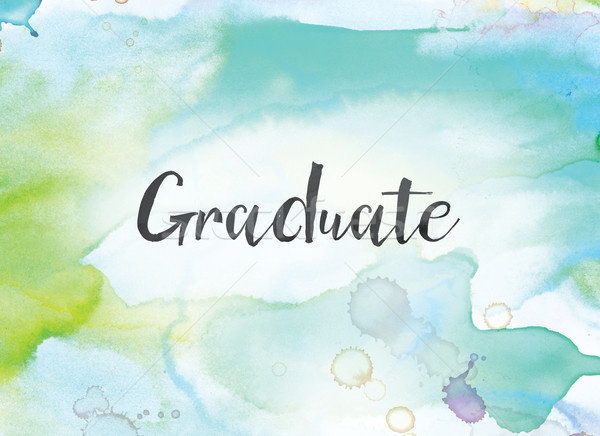 Graduate Concept Watercolor and Ink Painting Stock photo © enterlinedesign