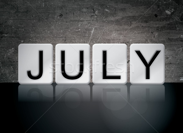 Stock photo: July Concept Tiled Word