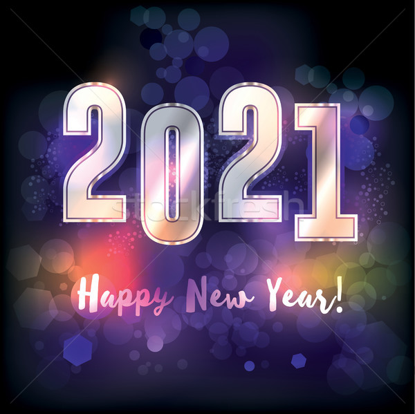 Happy New Year 2021 Illustration Stock photo © enterlinedesign