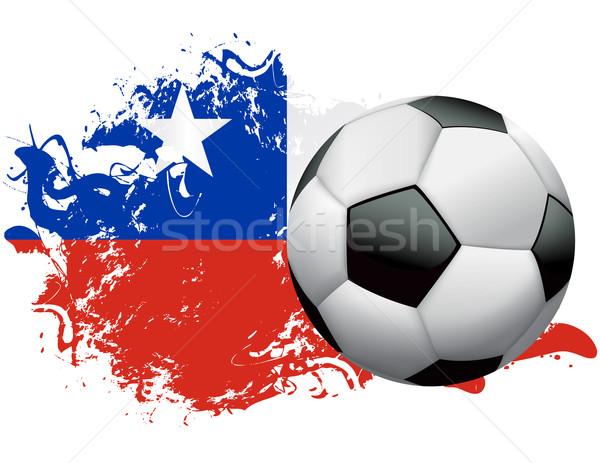 Chile Soccer Grunge Design Stock photo © enterlinedesign