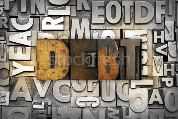 Deuda palabra escrito vintage tipo Foto stock © enterlinedesign