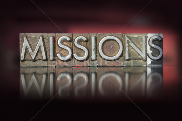 Missions Letterpress Stock photo © enterlinedesign