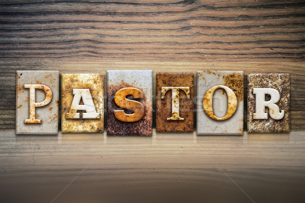 Pastor Concept Letterpress Theme Stock photo © enterlinedesign