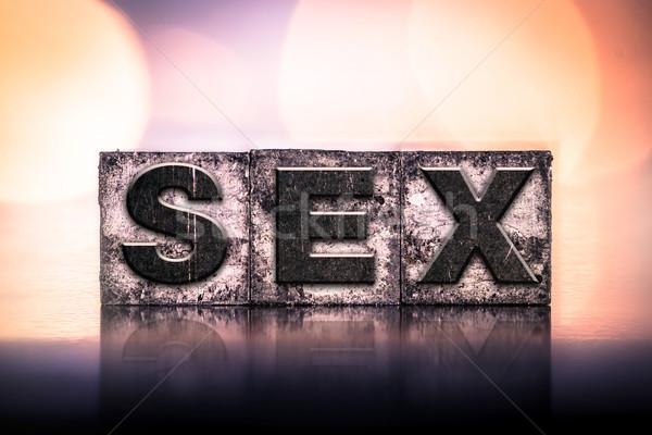 Szex klasszikus magasnyomás szó írott Stock fotó © enterlinedesign
