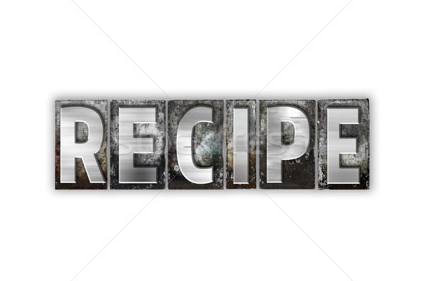 レシピ 孤立した 金属 タイプ 言葉 ストックフォト © enterlinedesign