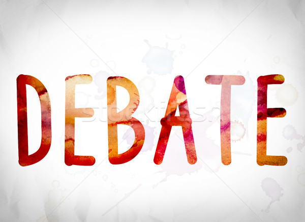 Debate Concept Watercolor Word Art Stock photo © enterlinedesign