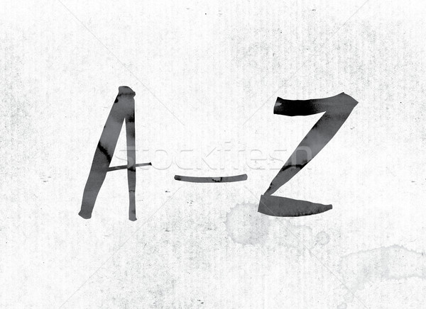 A-Z Concept Painted in Ink Stock photo © enterlinedesign
