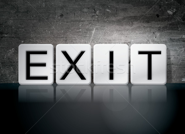 Exit Tiled Letters Concept and Theme Stock photo © enterlinedesign