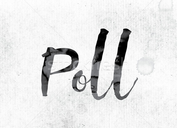Poll Concept Painted in Ink Stock photo © enterlinedesign