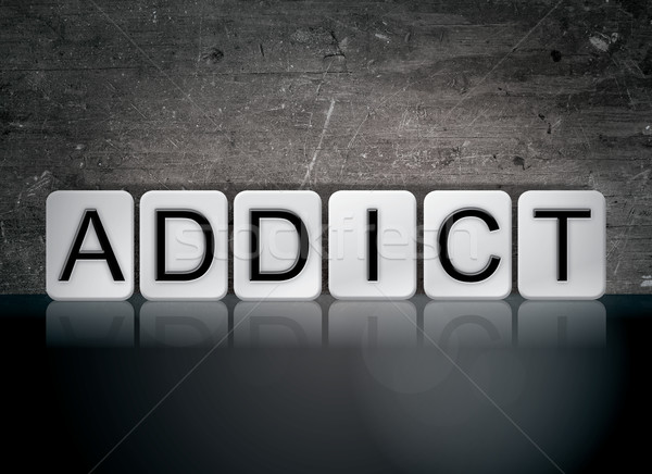 Addict Concept Tiled Word Stock photo © enterlinedesign