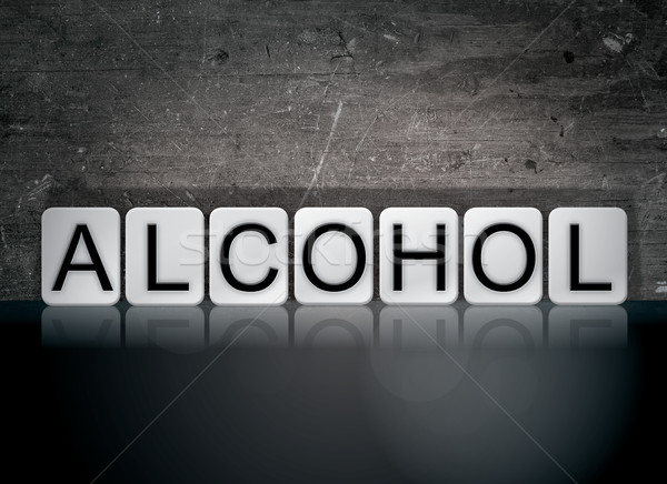 Alcohol Concept Tiled Word Stock photo © enterlinedesign