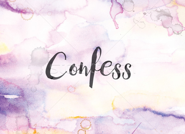 Confess Concept Watercolor and Ink Painting Stock photo © enterlinedesign