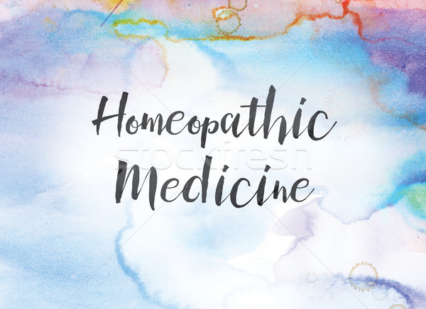 Homeopathic Medicine Concept Watercolor and Ink Painting Stock photo © enterlinedesign