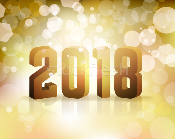 2018 New Year's Eve Concept Illustration Stock photo © enterlinedesign