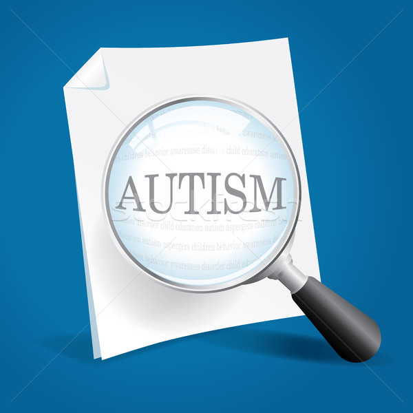 Elvesz néz autizmus növekvő járvány gyerekek Stock fotó © enterlinedesign