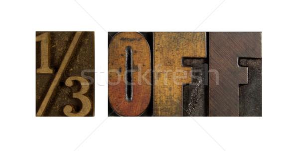 Een derde af woorden 13 geschreven Stockfoto © enterlinedesign