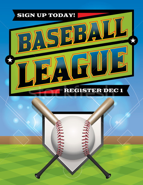 Baseball competitie illustratie registratie vector eps Stockfoto © enterlinedesign