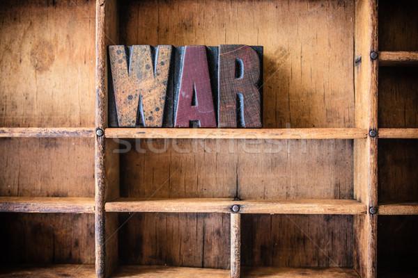 войны слово написанный Vintage Сток-фото © enterlinedesign