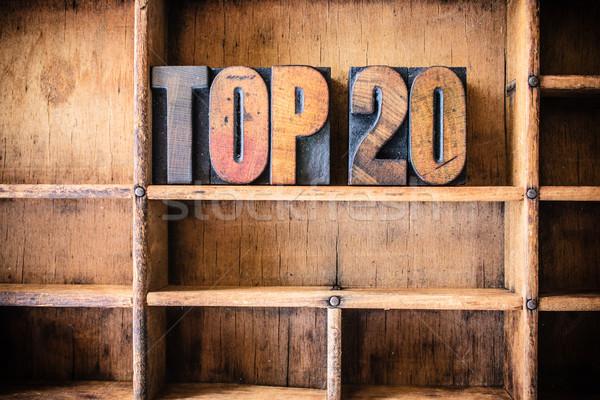 Top 20 Concept Wooden Letterpress Theme Stock photo © enterlinedesign