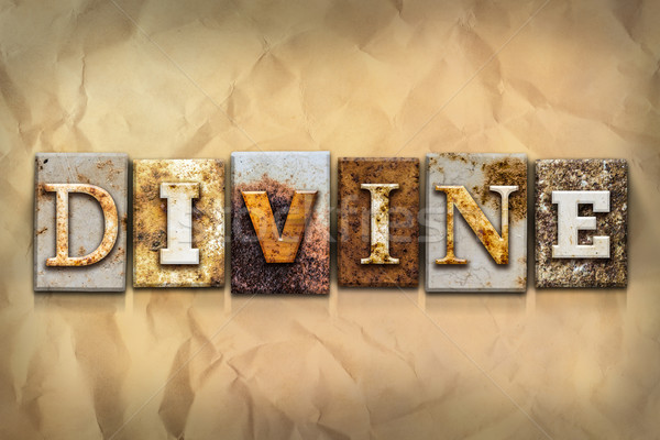 Divine Concept Rusted Metal Type Stock photo © enterlinedesign