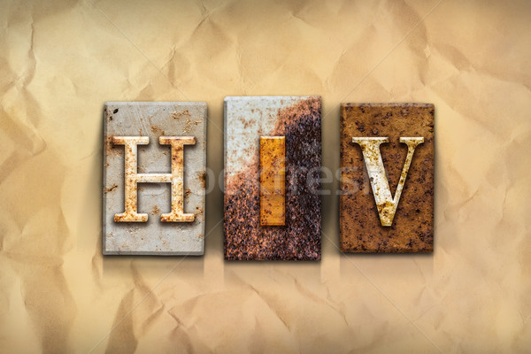 HIV Concept Rusted Metal Type Stock photo © enterlinedesign