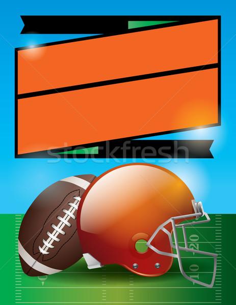 Vector amerikaanse voetbal kom spel partij Stockfoto © enterlinedesign