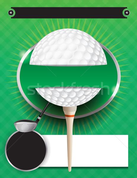 Golf torneo plantilla ilustración vector eps Foto stock © enterlinedesign