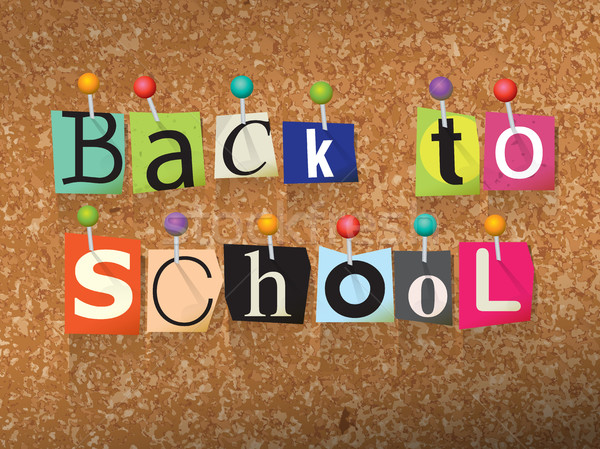 Back to School Ransom Note Illustration Stock photo © enterlinedesign
