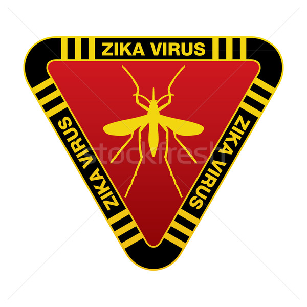 Red and Yellow Zika Virus Warning Sign Stock photo © enterlinedesign