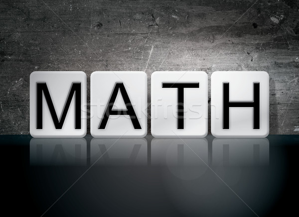 Math Tiled Letters Concept and Theme Stock photo © enterlinedesign