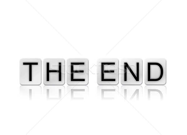 The End Isolated Tiled Letters Concept and Theme Stock photo © enterlinedesign