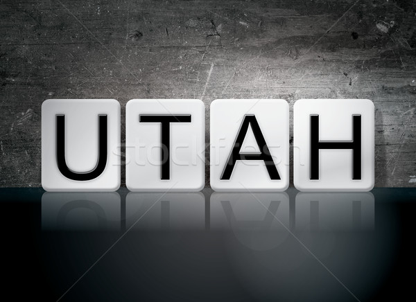 Utah Tiled Letters Concept and Theme Stock photo © enterlinedesign