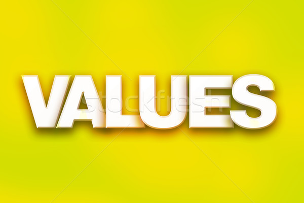 Values Concept Colorful Word Art Stock photo © enterlinedesign