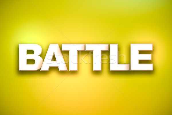 Battle Theme Word Art on Colorful Background Stock photo © enterlinedesign
