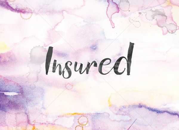 Insured Concept Watercolor and Ink Painting Stock photo © enterlinedesign