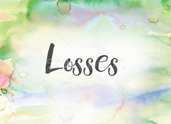 Losses Concept Watercolor and Ink Painting Stock photo © enterlinedesign
