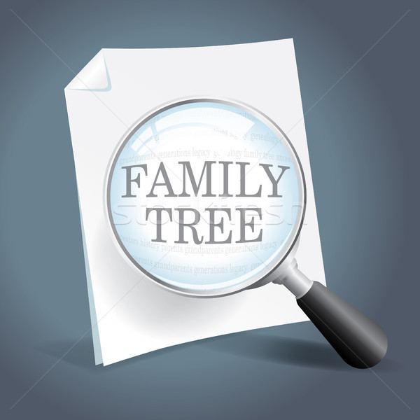 Looking at a family tree Stock photo © enterlinedesign