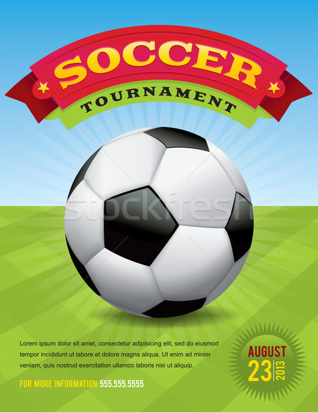 Soccer Tournament Design Stock photo © enterlinedesign